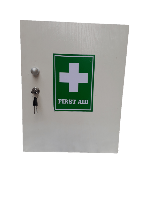 Wall mounted first aid kit - small
